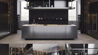 دانلود رایگان آشپزخانه مدرن Kitchen Poliform Varenna Artex
