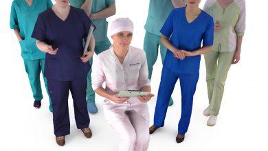 آبجکت دکتر پرستار تری دی مکس Medical Collection x7 3D Model 2018