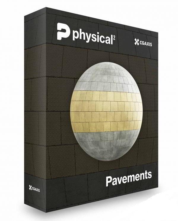دانلود رایگان مجموعه متریال - تکسچر پیاده رو CGAxis – Pavements PBR Textures – Collection Volume 25