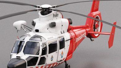 آبجکت هلیکوپتر آمبولانس Turbosquid 3D Model Eurocopter AS 365 Air Ambulace