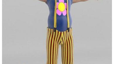 آبجکت انسان دلقک و بامزه TurboSquid Bobby The Clown