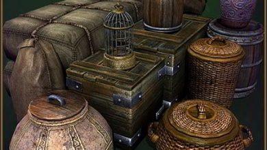 مجموعه 12 نوع جعبه، صندوقچه قدیمی TurboSquid Medieval Container Set