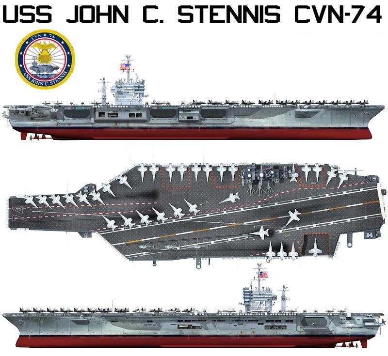 دانلود رایگان TurboSquid USS John C Stennis CVN-74