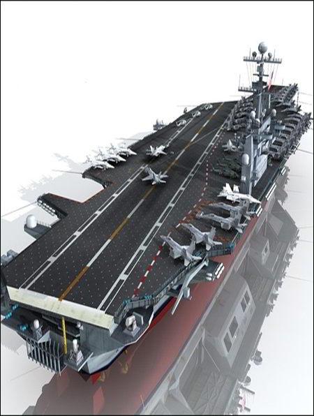 دانلود رایگان آبجکت ناو هواپیما بر آمریکایی TurboSquid USS John C Stennis CVN-74