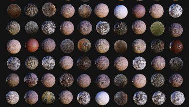 دانلود 100 تکسچر کفسازی معماری CGTrader – 100 Ground Terrain Seamless PBR Textures