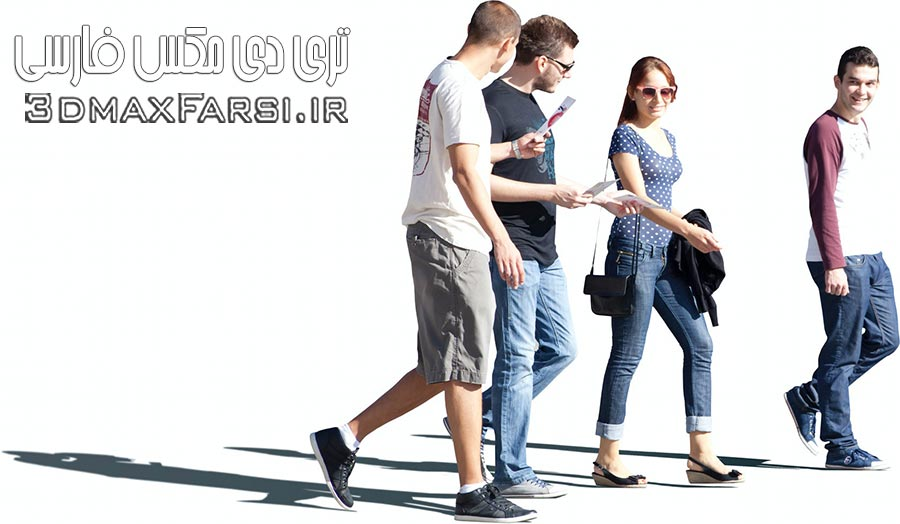 دانلود 2D Cutout People with shadows – 288 Photoshop files