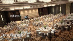 پکیج معماری اینتریور 3ds max . Vray سالن عروسی