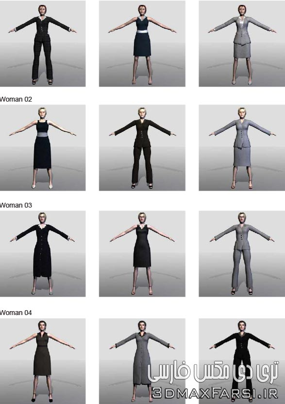 دانلود رایگان کاراکتر انسان سه بعدی DOSCH 3D – Animated Humans for Cinema 4D