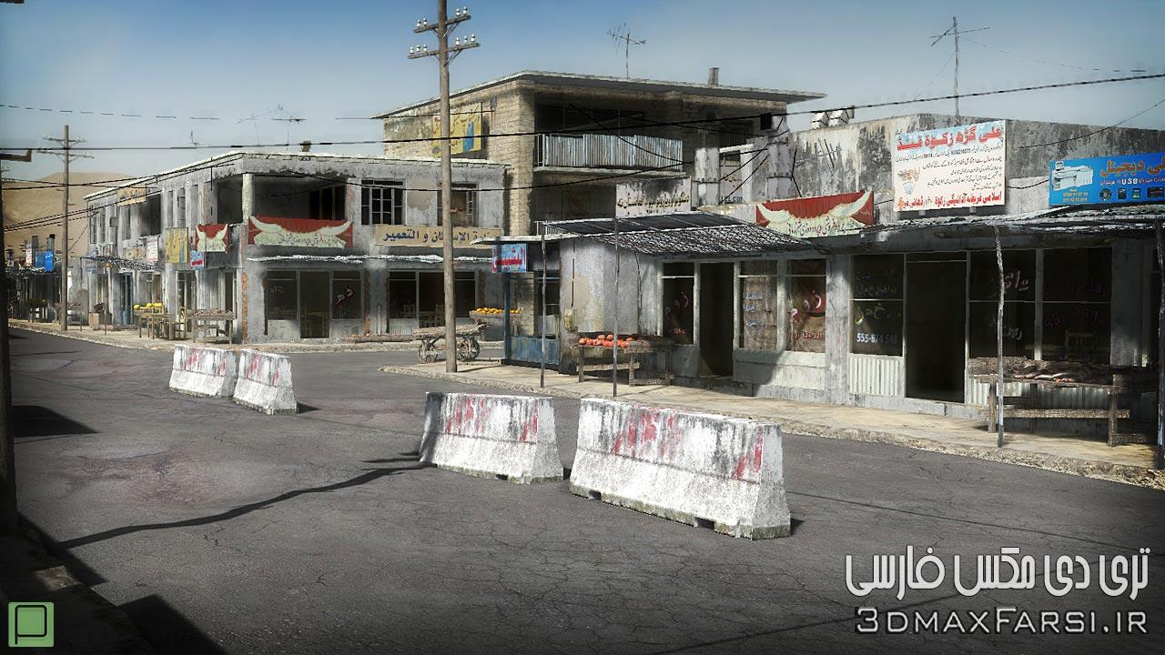 دانلود GTrader – 25 Afghanistan City Buildings Props for Games Low-poly 3D Model