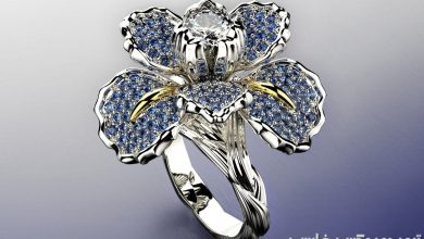 دانلود رایگان آبجکت و مدل سه بعدی حلقه گل سوسن Cgtrader - Iris fashion ring 0004 3D print model