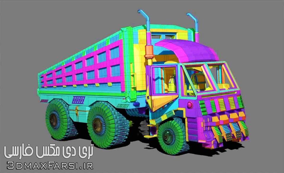 آموزش مدلسازی یک کامیون با نرم افزار زیبراش Modeling a Truck with Pixolator in ZBrush 4R7