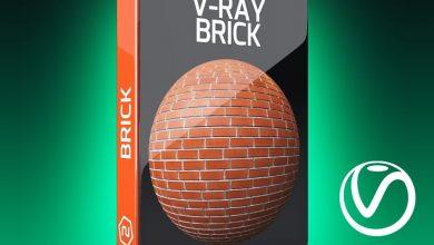 دانلود رایگان متریال آجر برای سینمافوردی ویری V-Ray Brick Texture Pack for Cinema 4D