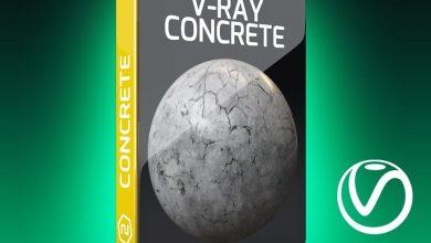 دانلود رایگان دانلود تکسچر سیمان سفید، تکسچر دیوار بتنی Motion Squared – V-ray concrete