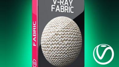 تکسچر متریال پارچه ویری V-Ray Fabric Texture Pack for Cinema 4D