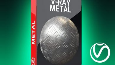 دانلود رایگان تکسچر فلز V-Ray Metal Texture Pack for Cinema 4D