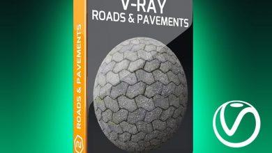 دانلود رایگان تکسچر جاده و پیاده رو V-Ray Roads and Pavements Texture Pack for Cinema 4D