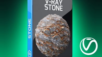 دانلود متریال سنگ سینمافوردی ویری V-Ray Stone Texture Pack for Cinema 4D