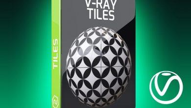دانلود رایگان تکسچر تایل موزاییکی ویری سینمافوردی Motion Squared – V-Ray Tiles Texture Pack for Cinema 4D