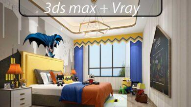 مجموعه 50 صحنه سه بعدی اتاق کودک (فوق حرفه ای)