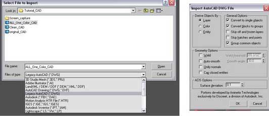 نحوه پاک کردن فایل های اتوکد قبل از import