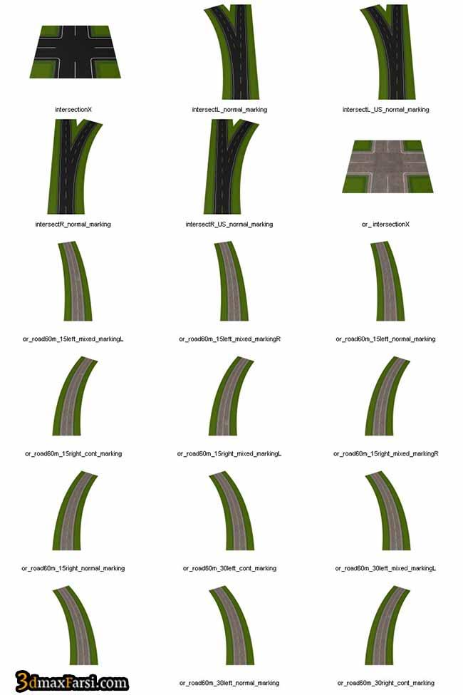 آبجکت آماده خیابان DOSCH 3D: Roads