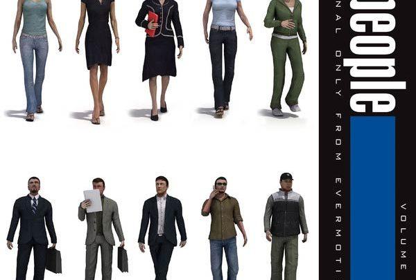 آبجکت انسان Evermotion 3d people
