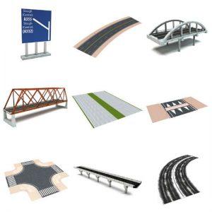Dosch 3D: Roads آبجکت خیابان