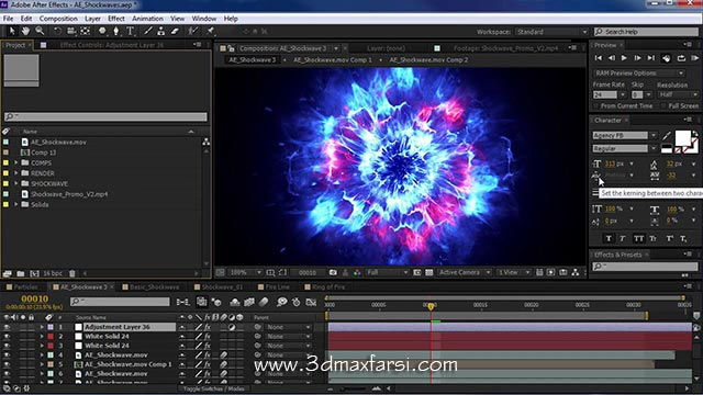 آموزش ساخت Shockwave Tutorial 100% in After Effects
