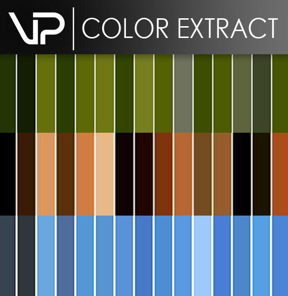 Viz plugins Color Extract پلاگین ساخت متریال