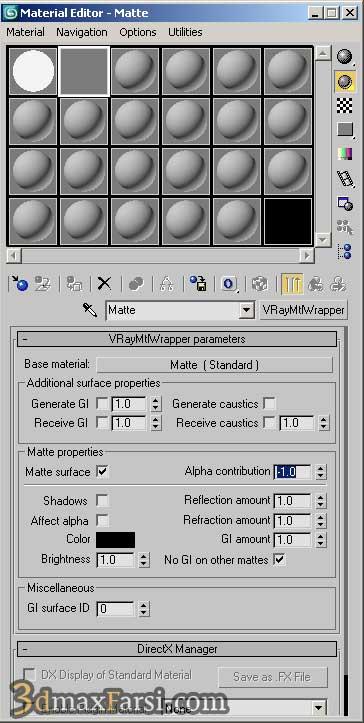 آموزش متریال VRayMtlWrapper material
