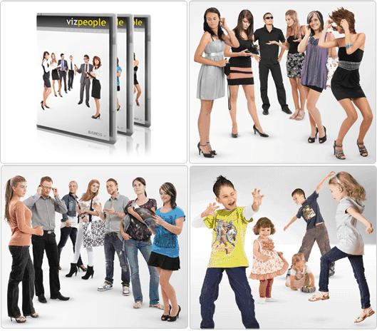 دانلود VizPeople - Cut Out People and 3d models